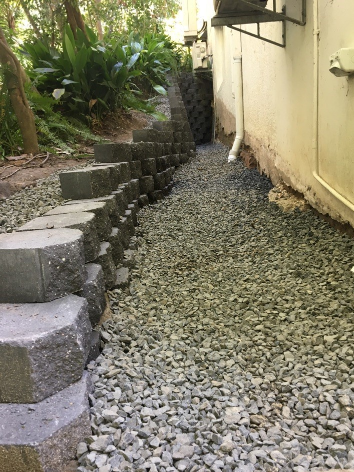 Block Wall Drainage Solution